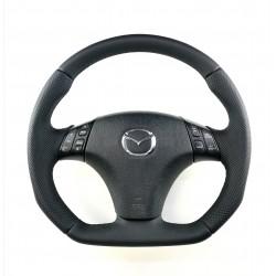 Mazda 6 RESHAPED FLAT BOTTOM  leather  steering wheel