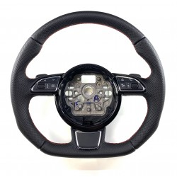 Audi A1 A6 (C7) A7 Full Reshaped steering wheel with flat bottom