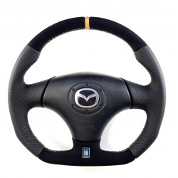 Mazda RX-7 FD full reshaped steering wheel with flat bottom