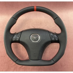Mazda 6 FLAT BOTTOM Alcantara steering wheel