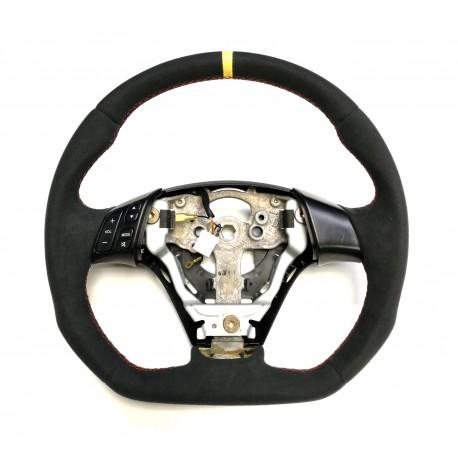 Mazda 3 FLAT BOTTOM Alcantara steering wheel