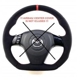 Mazda 3 RESHAPED FLAT BOTTOM  leather  steering wheel